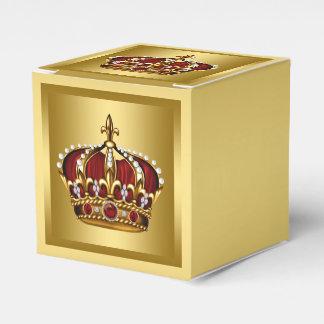 Rojo y príncipe del oro paquete de regalo para fiestas