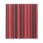 Rojo y rayas negras bloc