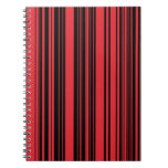 Rojo y rayas negras cuadernos