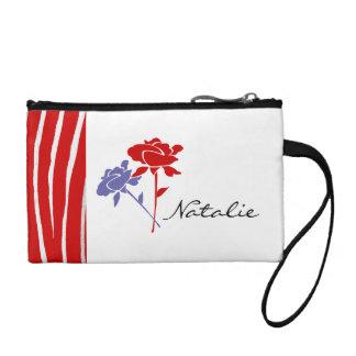 Rojo y rosas de la lavanda+Personalice el nombre