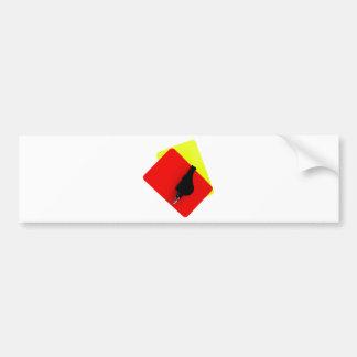 rojo y tarjeta amarilla etiqueta de parachoque