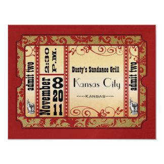 """Rojo y tarjetas de la respuesta del boda de invitación 4.25"""" x 5.5"""""""