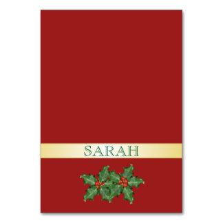 Rojo y tarjetas entoldadas del lugar del día de