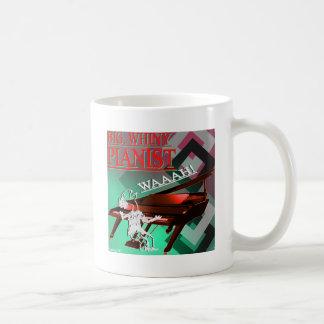 """Rojo y verde """"del pianista grande del Whiny"""" Taza Clásica"""