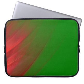 Rojo y verde funda portátil