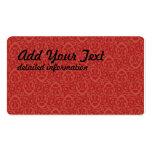 Rojos barrocos del modelo plantillas de tarjetas de visita