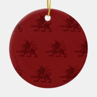 Rojos de los dragones ornamento para reyes magos