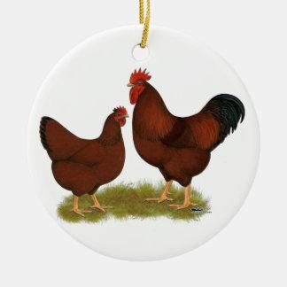 Rojos de New Hampshire Ornaments Para Arbol De Navidad