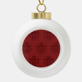 Rojos del escudo de la familia adorno de cerámica en forma de bola