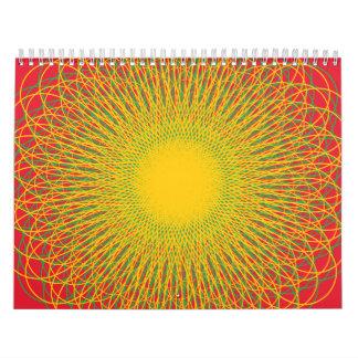 Rojos enérgicos de las curvas calendarios