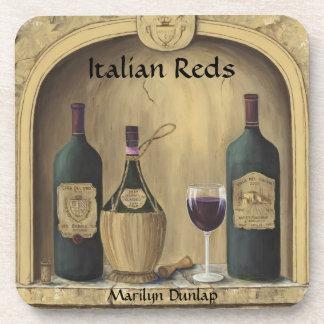 Rojos italianos posavasos de bebida
