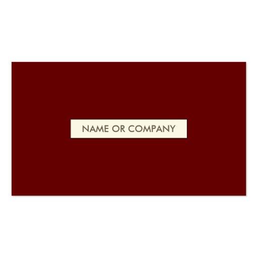 rojos refinados tarjetas de visita