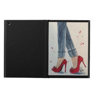 Rojos y cubierta de rubíes del iPad de la acuarela