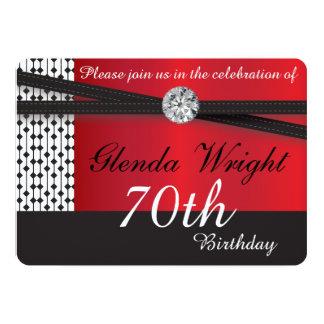 Rojos y negros elegantes invitan invitacion personalizada