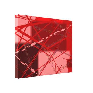 Rojos y rosa abstractos impresión en lienzo
