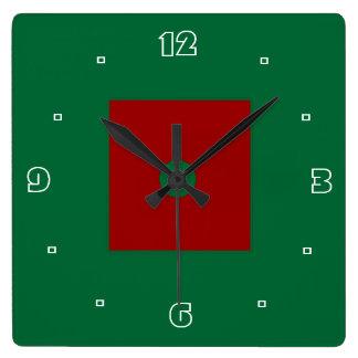 Rojos y verdes llanos >Kitchen el reloj