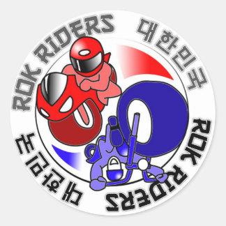 ROK Riders swag Round Sticker