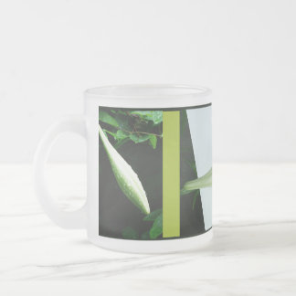 RokCloneDesigns Easter Lily Triptych Frosted Glass 10 Oz Frosted Glass Coffee Mug