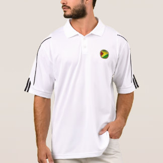 RokCloneDesigns Guyana Flag with Golf Ball Imprint Polo T-shirts