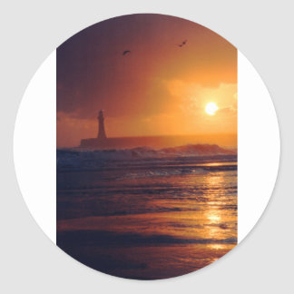 Roker Lighthouse Classic Round Sticker