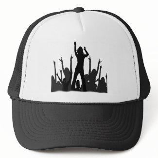roking music mesh hat