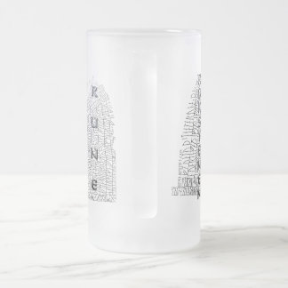 Rokstenen, Rok Runestone with Thurisaz 16 Oz Frosted Glass Beer Mug