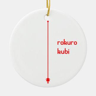 rokurokubi (red) ceramic ornament