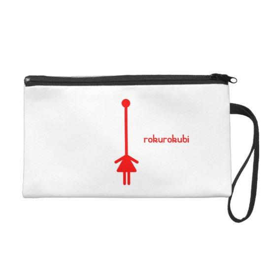 rokurokubi(red) wristlet purse