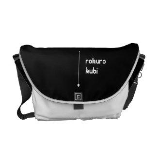 rokurokubi (white) courier bag