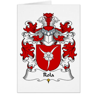 Rola Family Crest Greeting Card