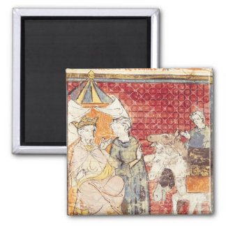 Roland Bidding Farewell to Charlemagne 2 Inch Square Magnet