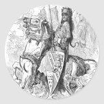Roland Count of Mans and Knight of Blaives Round Sticker