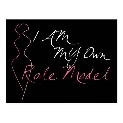 Role Model Black Postcard