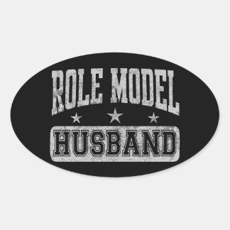 Role Model Husband Oval Sticker