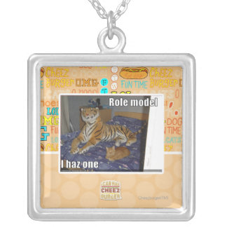 Role Model, I haz one Silver Plated Necklace
