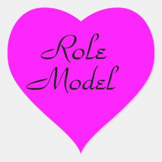 Role Model Heart Sticker