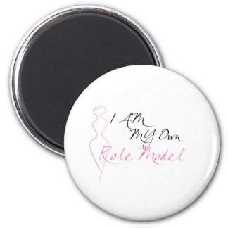 Role Model White 2 Inch Round Magnet