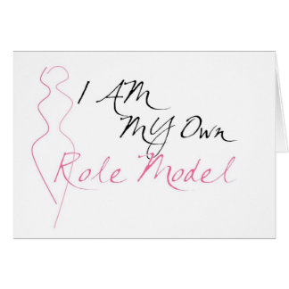 Role Model White Greeting Cards