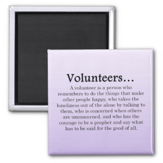 Role of Volunteers 2 Inch Square Magnet