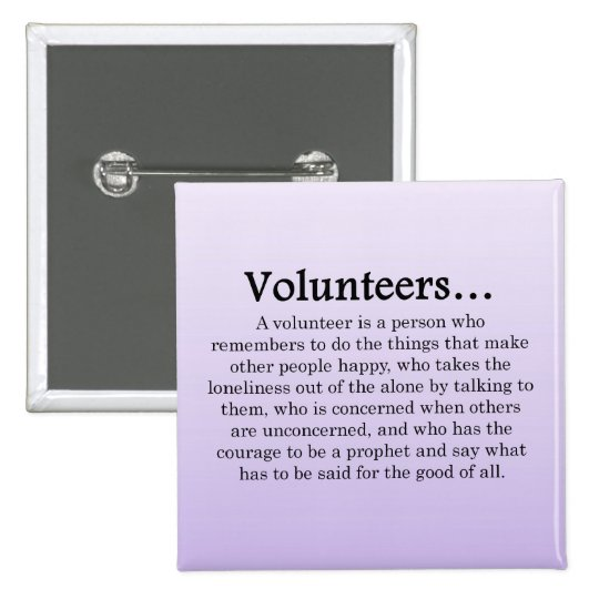Role of Volunteers Button