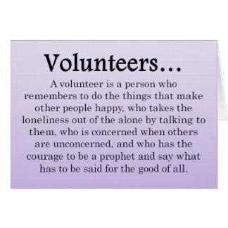 Role of Volunteers Greeting Card