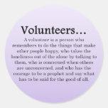 Role of Volunteers Classic Round Sticker