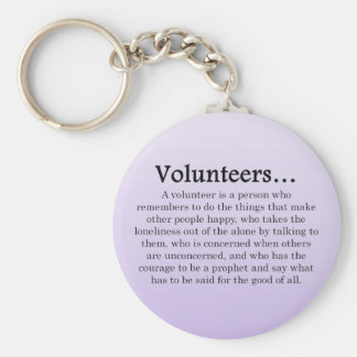 Role of Volunteers Keychain