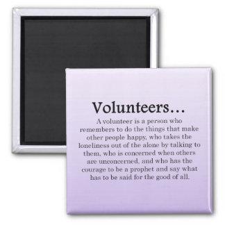 Role of Volunteers Magnet