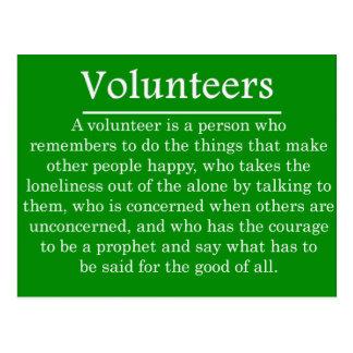 Role of Volunteers Postcard