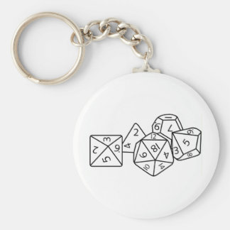 Role playing dice key chain