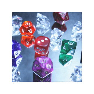 Roleplaying Dice Canvas Gallery Wrap Canvas