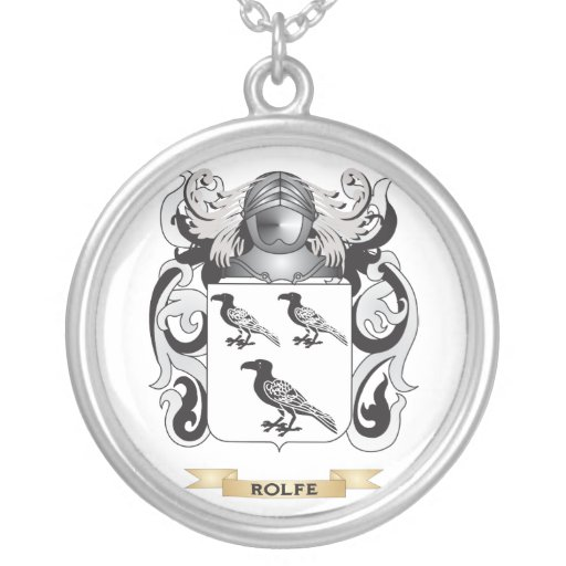 Rolfe Coat of Arms (Family Crest) Pendant