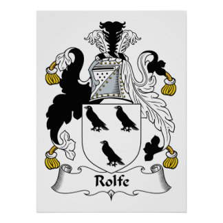 Rolfe Family Crest Print