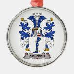 Rolfsen Family Crest Christmas Tree Ornament